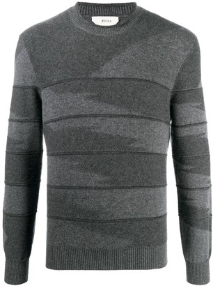 Ermenegildo Zegna Intarsia-Knit Cashmere Jumper