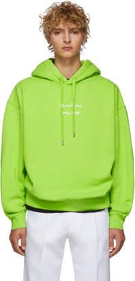 Acne Studios Green Floya Logo Hoodie