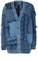 Stella McCartney patch denim cardigan