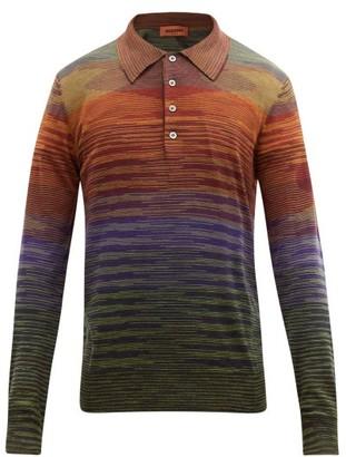 Missoni Space-dyed Stripe Wool-blend Polo Shirt - Multi