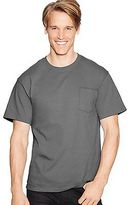 Hanes Men's Shirts TAGLESS Pocket T-Shirt