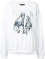 Baja East horse print sweatshirt - women - Cotton/Polyester/Modal - 1
