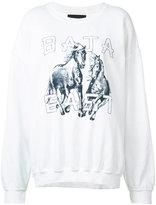 Baja East horse print sweatshirt - women - Cotton/Polyester/Modal - 4