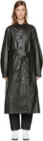 Lemaire Black Belted Trench Coat