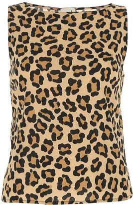 L'Autre Chose Leopard Print Sleeveless Top