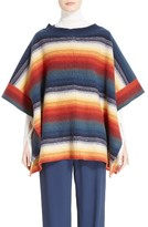 Chloé Women's Stripe Felted Wool & Cashmere Poncho