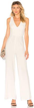 by the way. Carmela Deep V Wide Leg Backless Jumpsuit