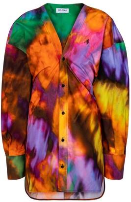ATTICO Lala tie-dye cotton minidress