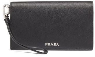 Prada Saffiano Leather Phone Case - Black