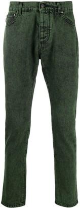 MSGM Acid-Wash Slim-Fit Jeans