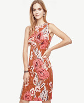 Ann Taylor Poppy Jacquard Sheath Dress