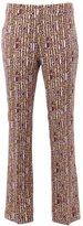 Giambattista Valli geometric print flared trousers