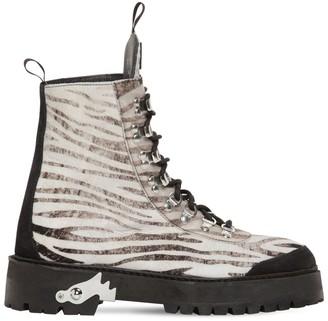 Off-White Off White 40MM ZEBRA SUEDE TREKKING BOOTS