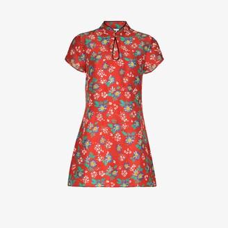Rixo Lolita floral print mini dress