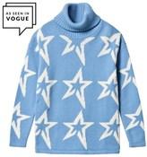 Perfect Moment Blue Merino Wool Star Dust Sweater