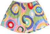 Mimisol Circles Printed Cotton Poplin Shorts