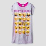 Emoji Girls' Nightgown Full Body Sleepwear - Grey