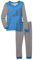 Coccoli Striped Sleeve Pajamas (Toddler, Little Girls, & Big Kids)