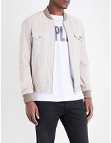 Replay Suede Bomber Jacket