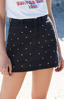 KENDALL + KYLIE Kendall & Kylie Denim Studded Mini Skirt