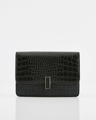 Le Château Croco Embossed Faux Leather Crossbody Bag