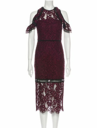 Alexis Lace Pattern Midi Length Dress w/ Tags Purple