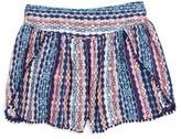 Ella Moss Girl's Jaya Print Voile Shorts
