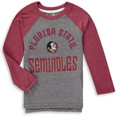 Outerstuff Preschool Gray/Garnet Florida State Seminoles Classic Gridiron Tri-blend Raglan Long Sleeve T-Shirt
