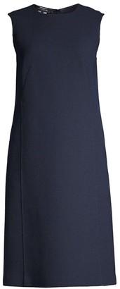 Lafayette 148 New York Sleeveless Wool Shift Dress