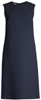 Lafayette 148 New York Sleeveless Wool Shift Dress