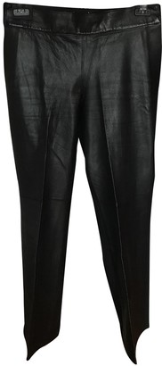 Kaufman Franco Kaufmanfranco Black Leather Trousers for Women
