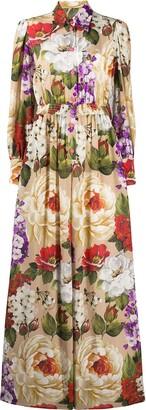 Dolce & Gabbana Floral Print Shirt Dress
