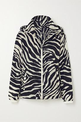 Moncler Pomme Hooded Zebra-print Shell Jacket - Zebra print