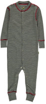 Nui Striped Ribbed Organic Merino Wool Jumpsuit