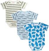 Sofie & Sam Organic Cotton 3 pk Combo 3 to 6 month Baby Bodysuit/Onesie/Romper - Cat, Daddy & Panda