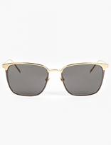 Linda Farrow Gold-plated Wayfarer Sunglasses