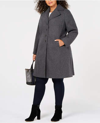 Tommy Hilfiger Plus Size Single-Breasted Peacoat