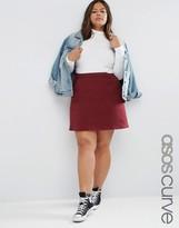 Asos Aline Skirt In Oxblood