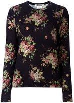 Comme des Garcons floral print sweater