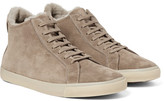Loro Piana Freetime Winter Walk Shearling-Lined Suede High-Top Sneakers
