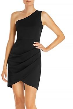 Aqua One Shoulder Cocktail Dress - 100% Exclusive