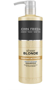 John Frieda Sheer Blonde Highlight Activating Moisturising Shampoo for Lighter Blondes 500ml