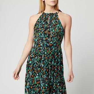 Whistles Women's Forest Floral Halter Midi Dress