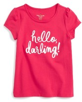 Kate Spade Toddler Girl's Hello Darling Embroidered Tee