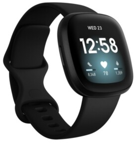 Fitbit Versa 3 Black Strap Smart Watch 39mm