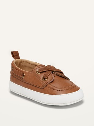 Old Navy Faux-Leather Boat Shoes for Baby