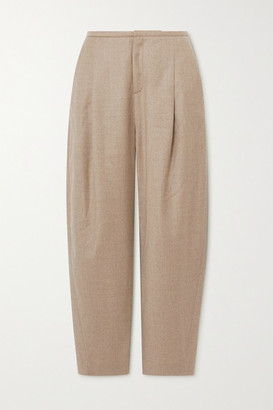 Totême Wool-blend Flannel Straight-leg Pants