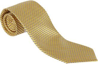Ermenegildo Zegna Gold-tone Silk Tie