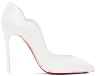 Christian Louboutin White Hot Chick 100 Heels