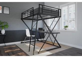 DHP X Loft Bed over Workstation, Black